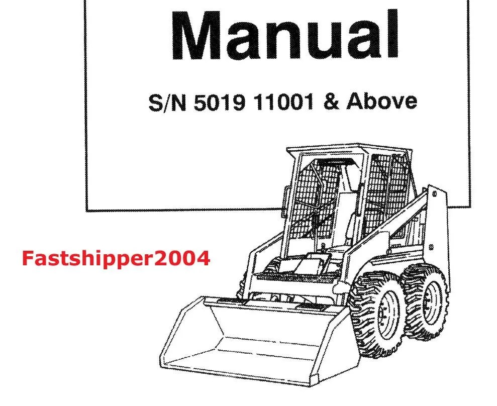 Bobcat 743 Skid Steer Loader SERVICE Manual PARTS