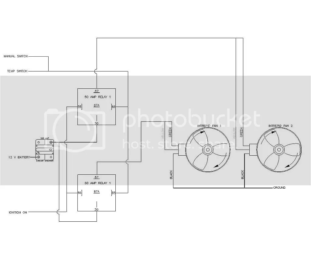 dual electric fan wiring diagram with relay hvac msd efi atomic free engine image for