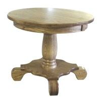 Amish Oak Occasional Tables Set Pedestal Country Solid ...