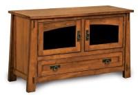 Large Modesto Amish Plasma TV Stand Wood LCD Console Media ...