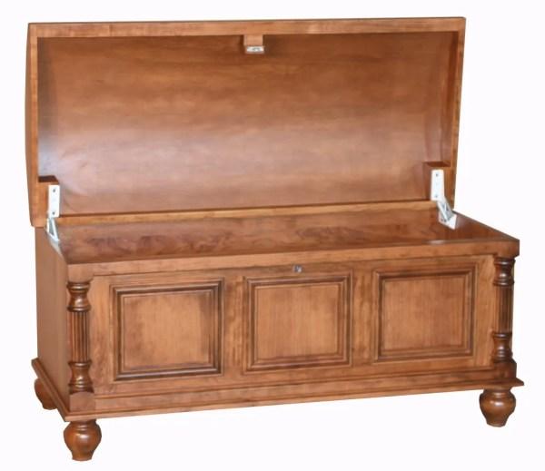 Amish Cherry Blanket Chests Box Cedar Hope Wooden Storage