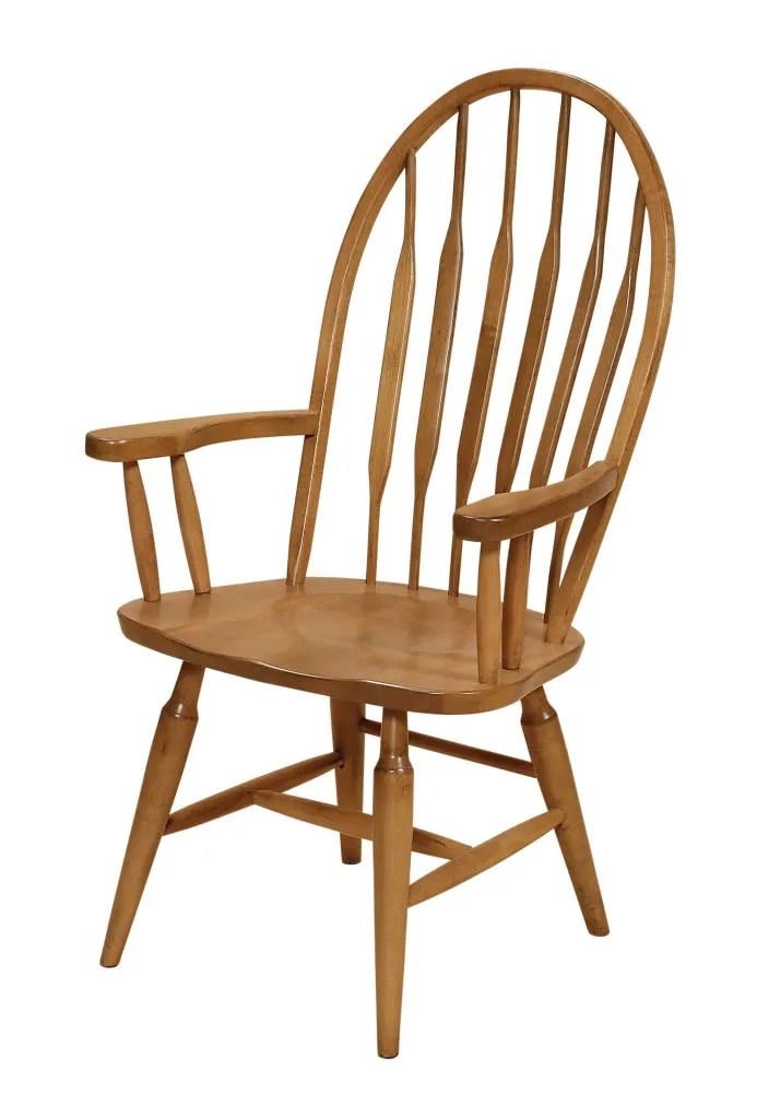 SET 2Amish Windsor Dining Chairs Wooden Wood Kitchen