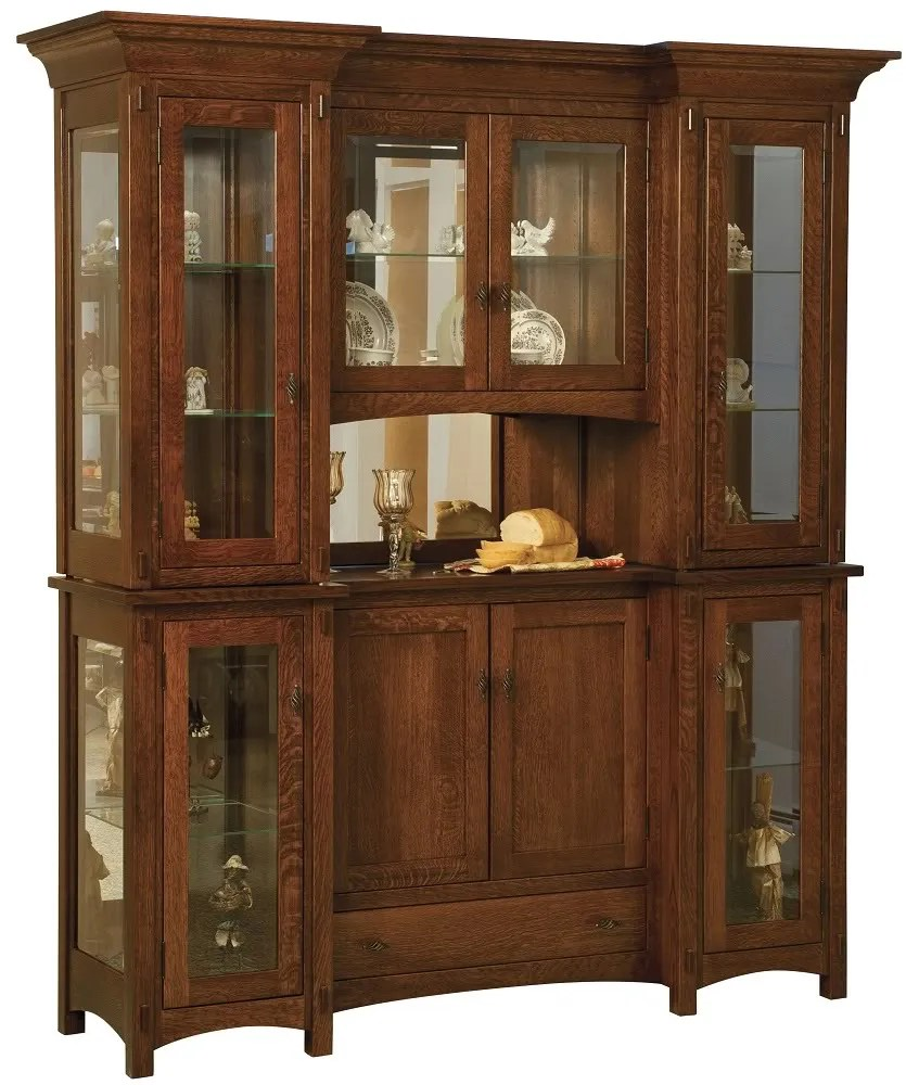 Amish Hutch Dining Room Furniture Hutches Solid Wood Oak