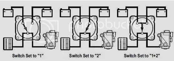 Basic Charging Circuit with 1-2-All Switch (with diagram)