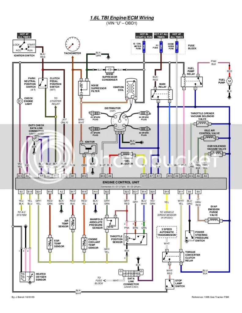 medium resolution of 95 tracker 1 6 8v wiring wiring diagram detailed  pioneer car stereo wiring