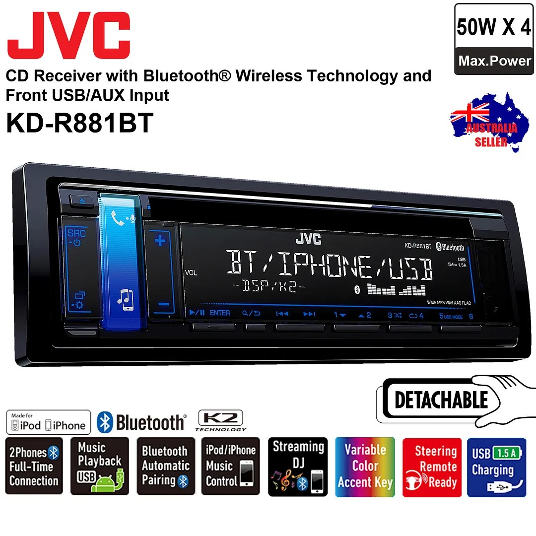 jvc radio bluetooth verbinden electrical wiring diagram books kd r881bt cd usb aux in car stereo