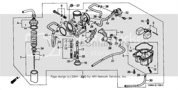 Honda rincon parts diagram