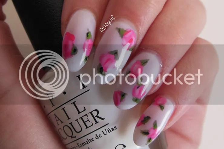 Ritsy Nail Art Spring Flowers Ritsy