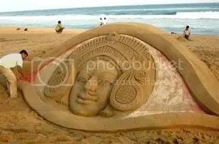 Sand Durga at Puri Beach