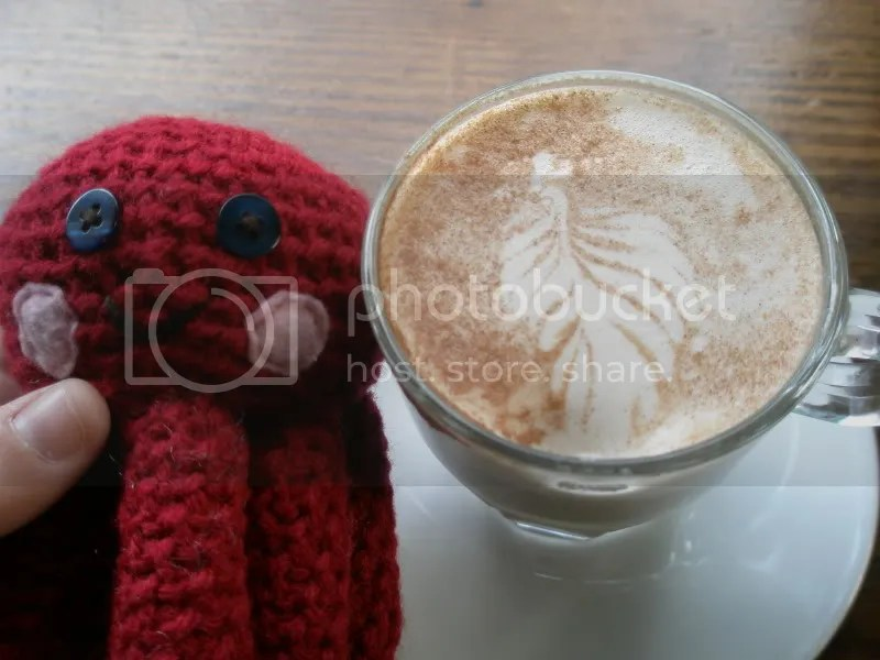 Otto with a Chai Tea Latte.