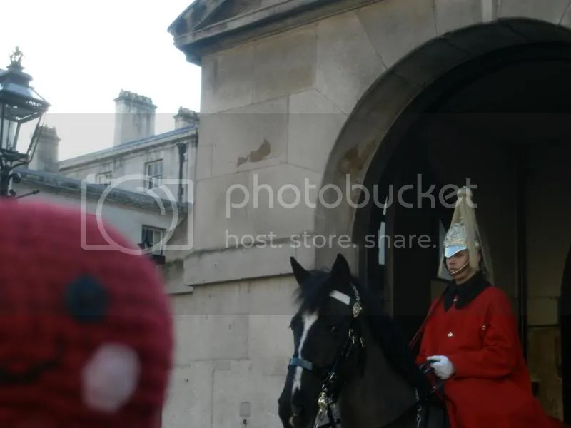 Otto with a horse guard.