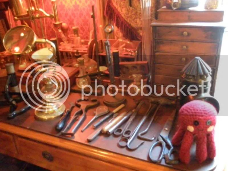 Desk of tools.