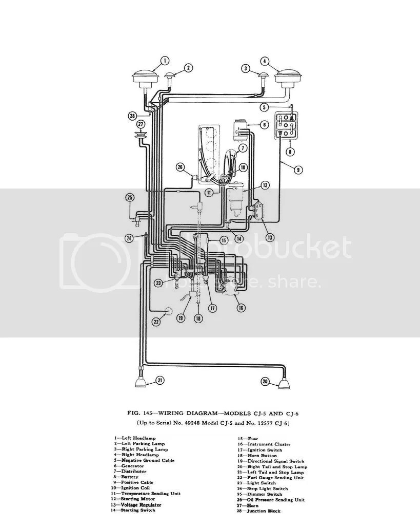 hight resolution of 67 cj 5 wiring diagram electrical wiring diagram1967 cj5 with v6 electrical ecj5here are a