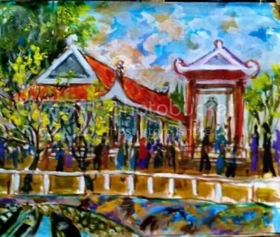 Kết quả hình ảnh cho Đền thờ ấp Đá Biên