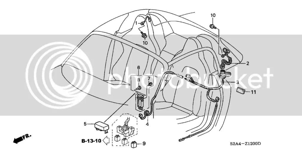 OEM Honda 02-09 S2000 AP2 Hardtop Defroster Harness s2k