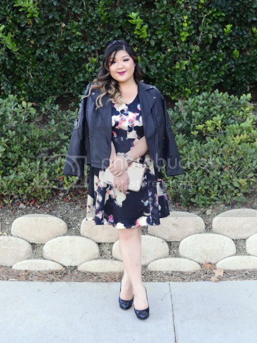 Curvy Girl Chic Plus Size Fashion Blog Target Ava and Viv Maximum Impact Minimum Effort Holiday Looks Confetti Light Printed Dress