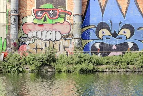 Hackney Wick Canal Graffiti 12