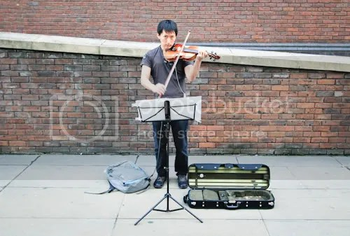 Millenium Bridge Sunset Violinist 1