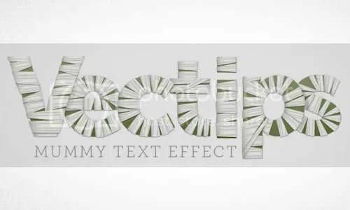 Mummy text Effect
