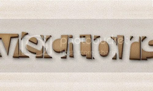 wooden text effect