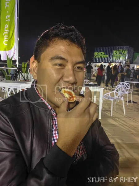 Pizza from Giolitti Dubai Food Festival Kite Beach Beach Canteen