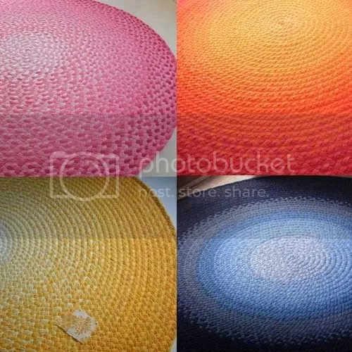 ombre rugs from green at heart