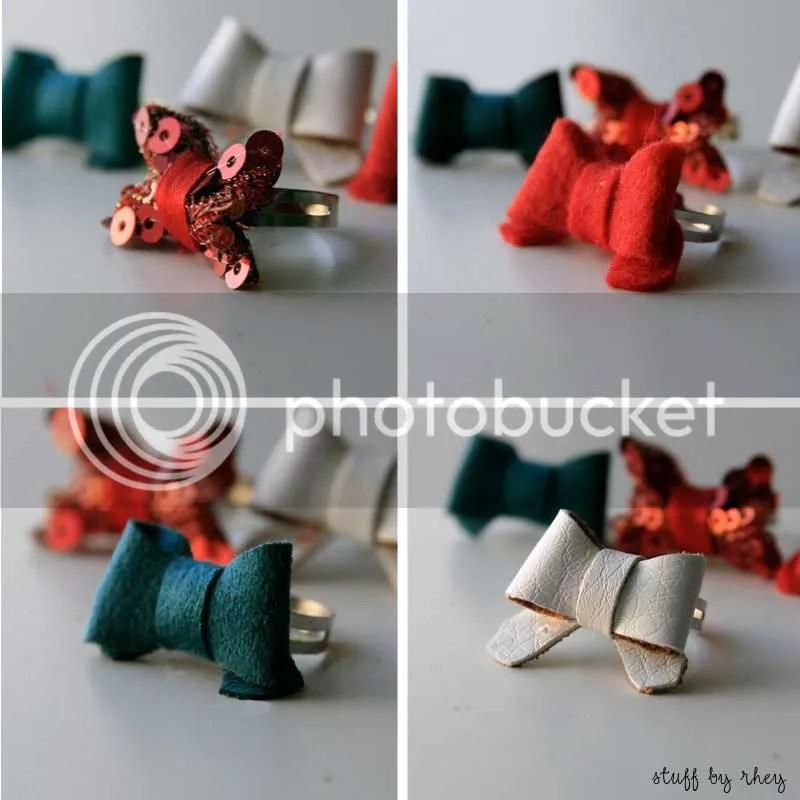 ribbon rings up close