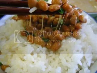 Nattō on rice