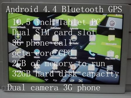 Планшетный ПК Zmc Samsung 10/3g SIM MTK8382 IPS : 2G /32G Android 4.4