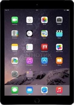 Планшет Apple iPad Air 2 128Gb Wi-Fi + Cellular (iOS/A8X 1500MHz/9.7' (2048x1536)/2048Mb/128Gb/Cellular (3G+4G LTE) 3G (EDGE, HSDPA, HSPA+)) [MGWL2RU/A]