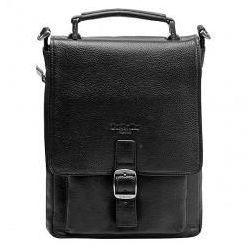 Черная сумка-планшет на замке со съемным плечевым ремнем Dr.Koffer P402140-01-04