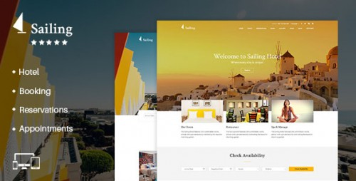 Nulled Sailing v1.13.1 - Hotel WordPress Theme product