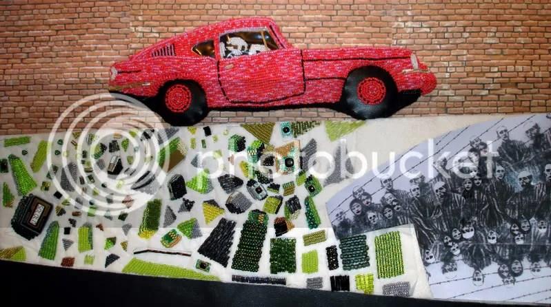 Banksy pink car, Brick Lane, London, British POW
