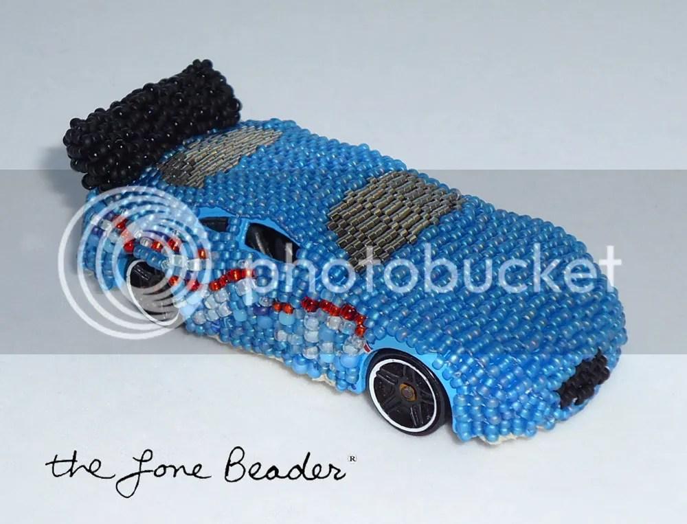 hot wheels matchbox recycled art car seed beads peyote stitch ebay etsy