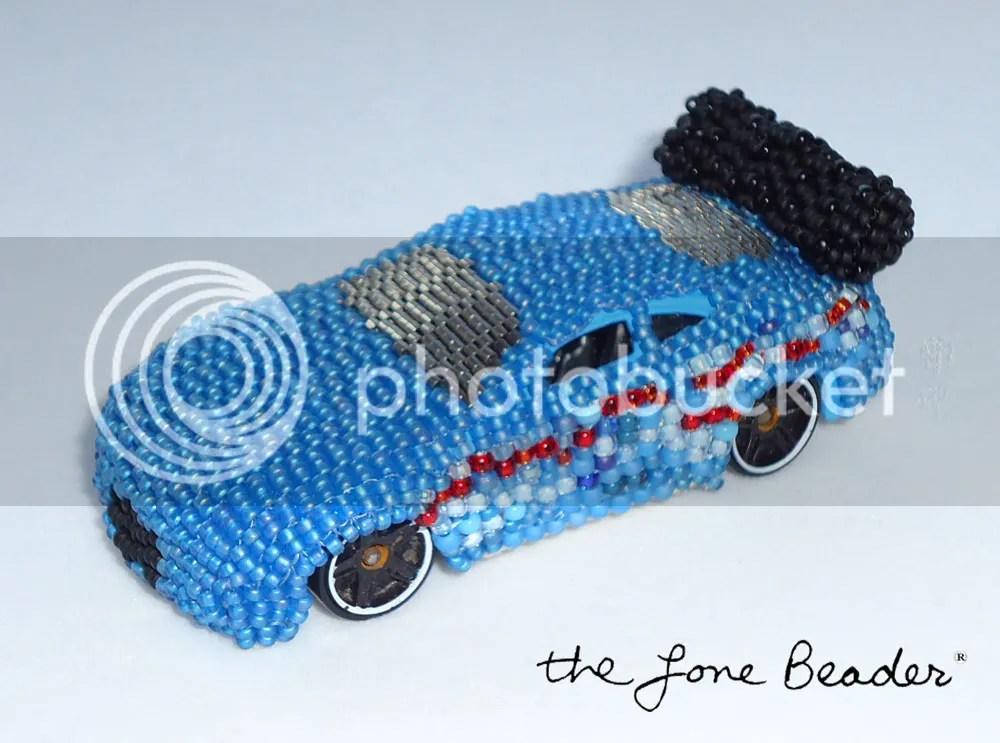 peyote stitch beaded hot wheels matchbox car art toy beadwork ebay etsy ooak
