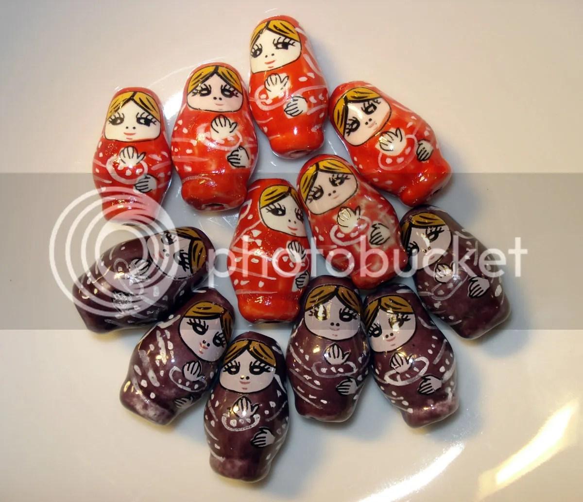 Beadcrafty.com Porcelain Russian Doll Beads