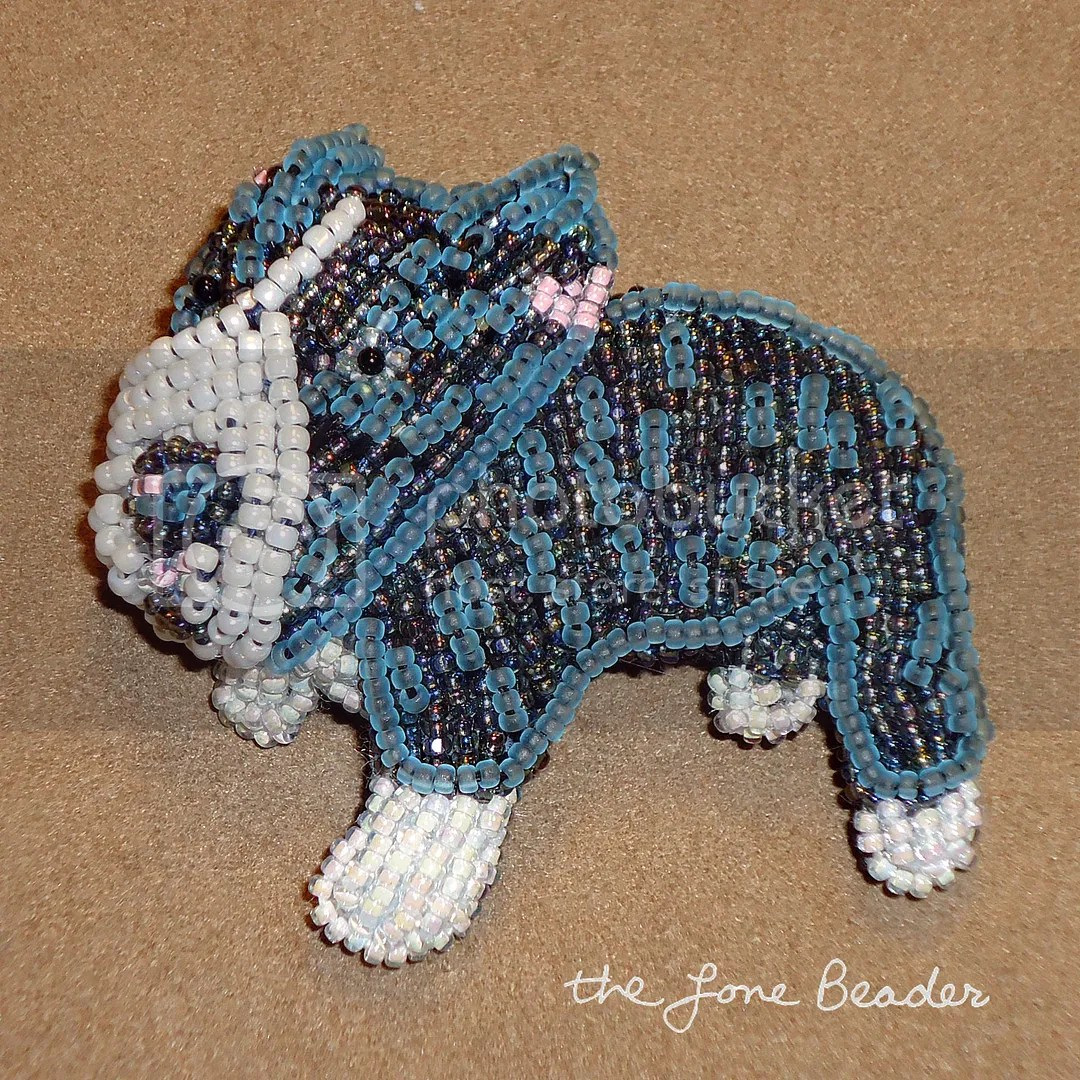 beaded seed beads bead embroidery pit bull dog brooch pendant etsy custom order
