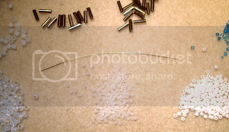 Bent beading needle size 15 12 bead embroidery seed beads lone beader beaded