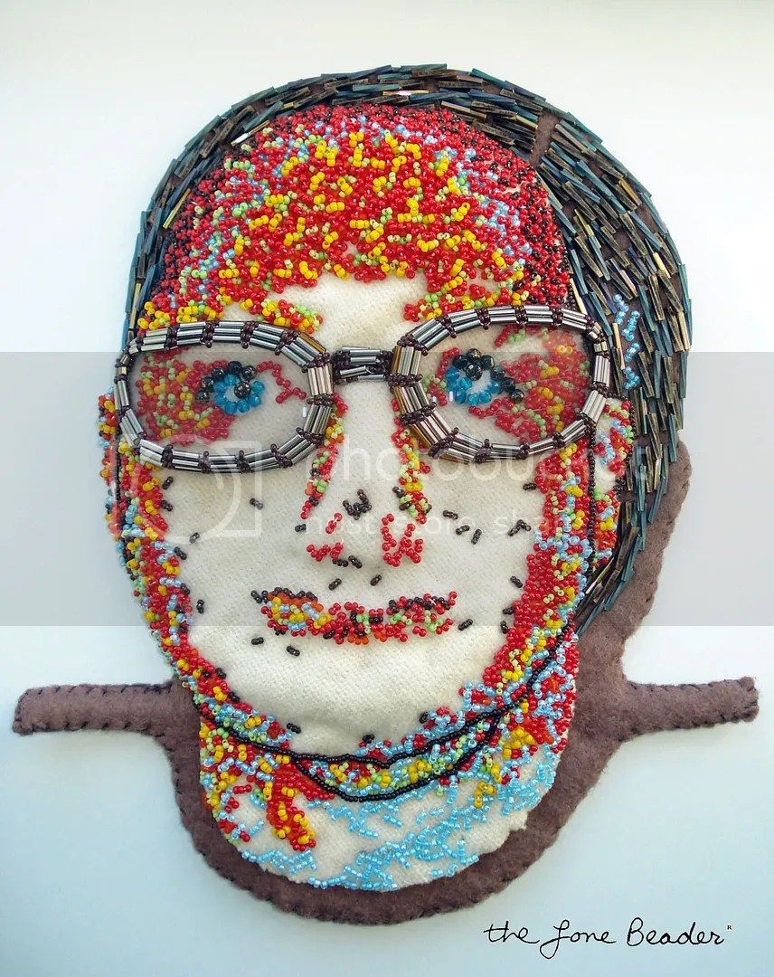 beaded portrait beadwork bead embroidery central square eye care optical shop