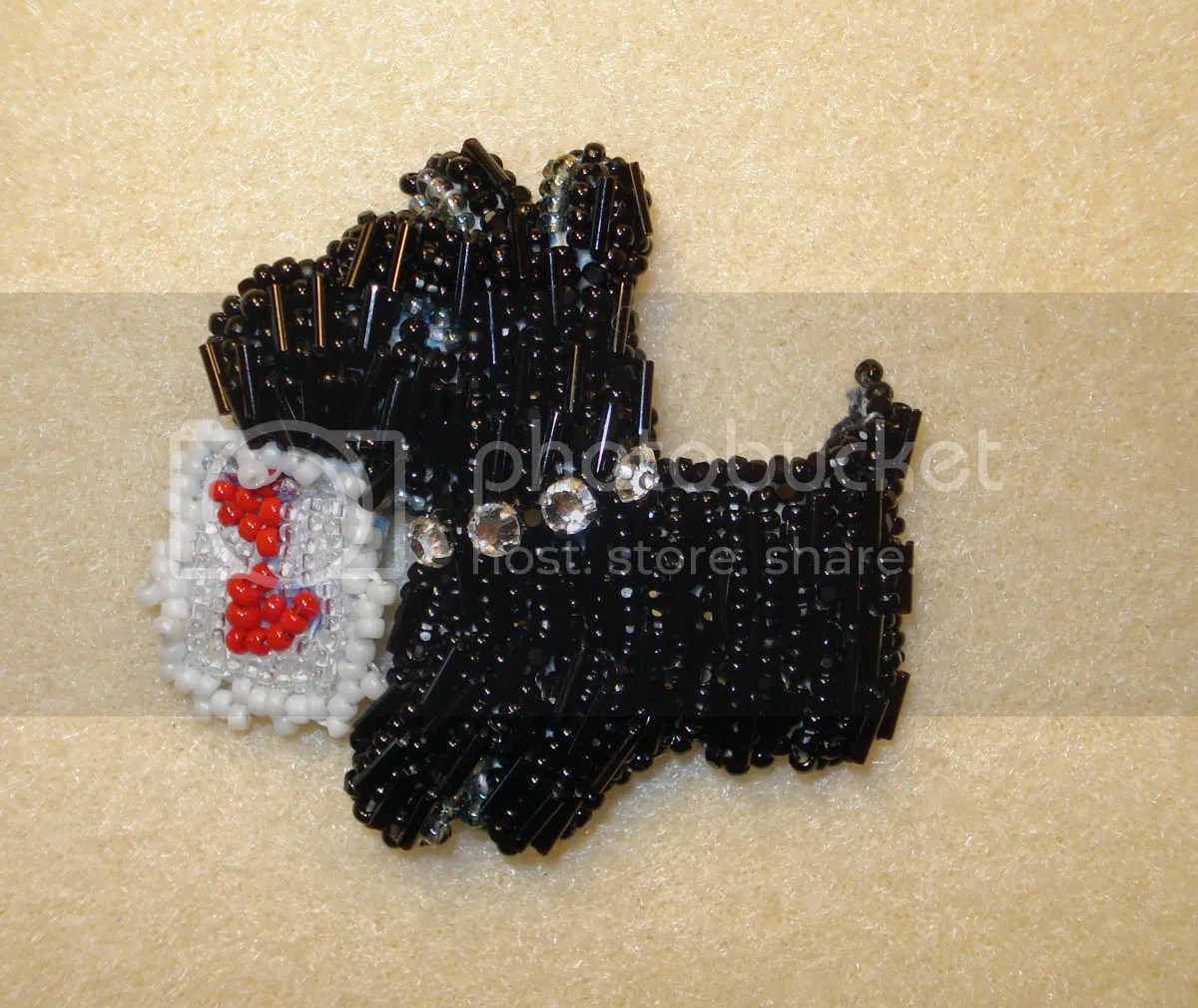 beaded heart shaped purse scottie dog crystal collar etsy seed beads
