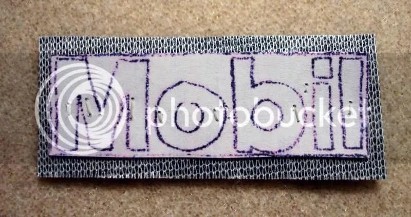 Beaded Boston trolley MBTA Citgo Mobil gas station prices sign T bead embroidery artist pop art petrol