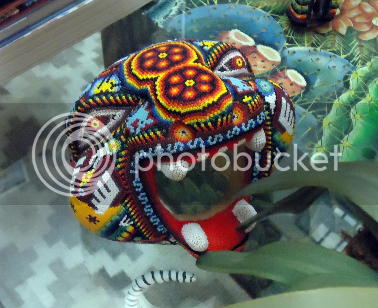 Casa de los Venados Valladolid Yucatan Mexico Huichol beadwork folk art museum bead artist