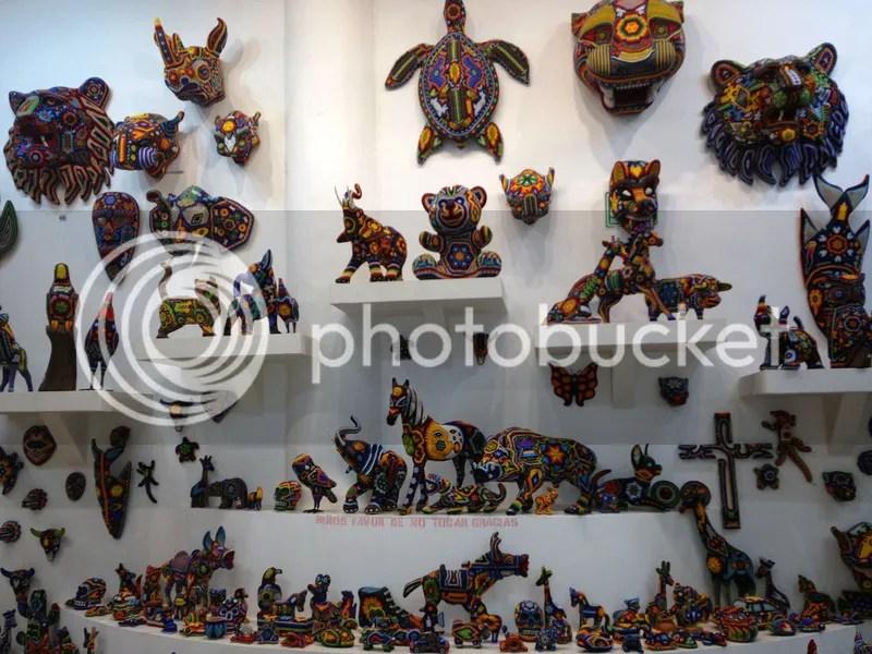 Tierra Huichol beaded art Mexican souvenirs Playa del Carmen Cancun Mexico beadwork Riviera Maya