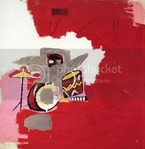 Jean-Michel Basquiat Andy Warhol collaboration pop art graffiti painting Max Roach