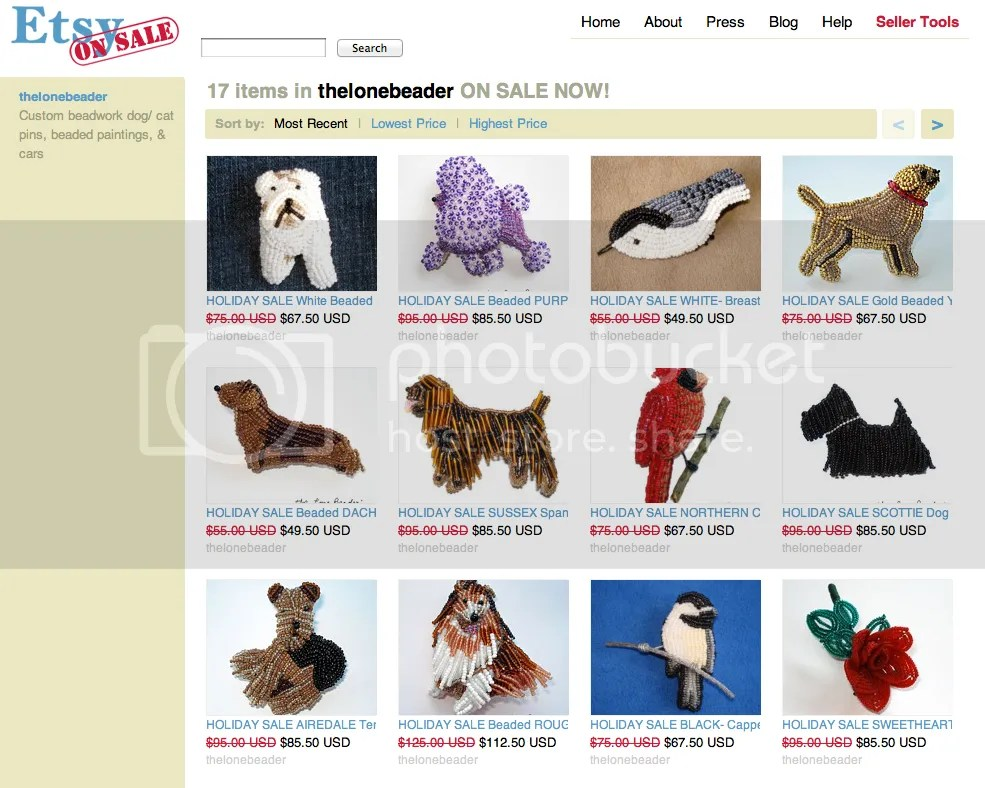 etsy holiday sale beaded dog pins pendants 10% off bead embroidery