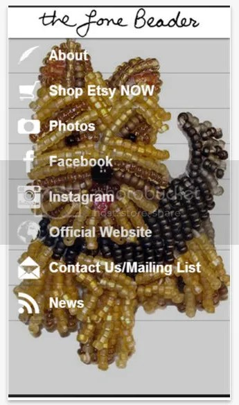 The Lone Beader FREE iPhone App beads beading patterns beadwork bead embroidery etsy dogs jewelry