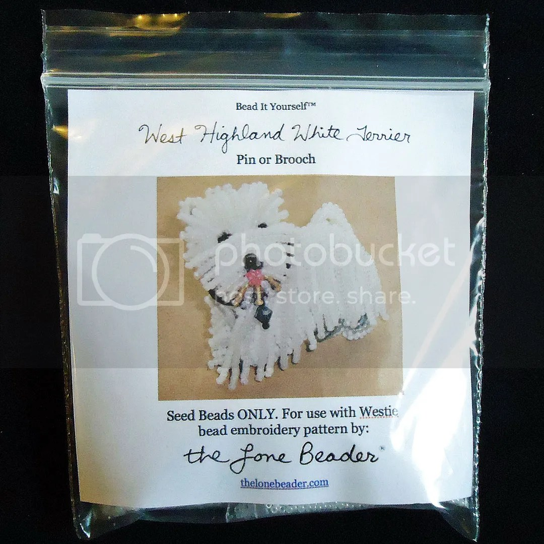 15/0 seed beads kit Westie dog beading pattern etsy bead embroidery