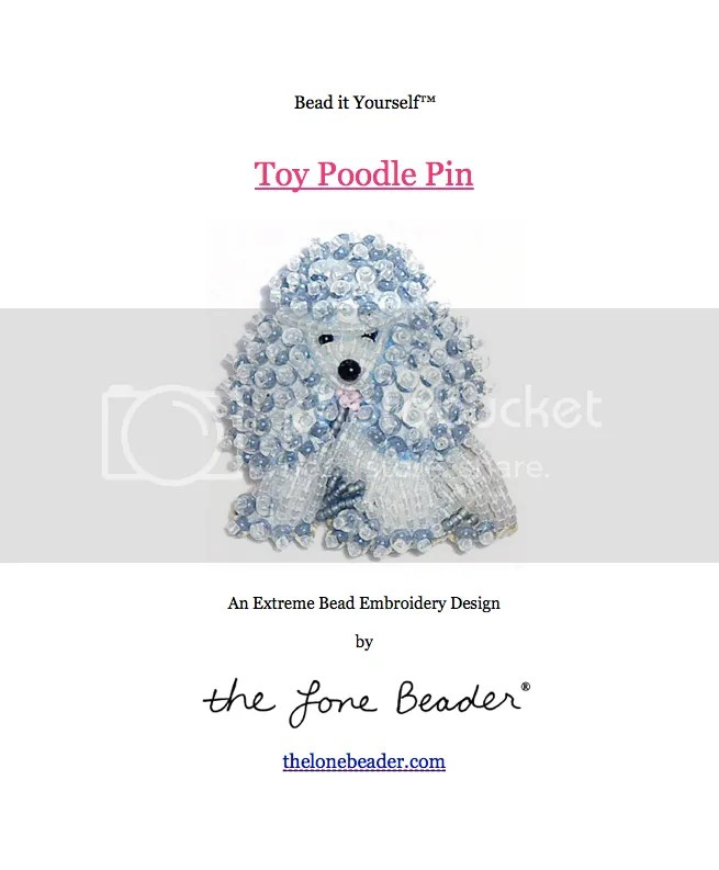 beaded pink gray miniature poodle bead embroidery pattern pdf file etsy