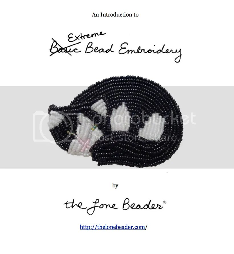 extreme basic bead embroidery tutorial master class etsy beader beadwork beading cat pin