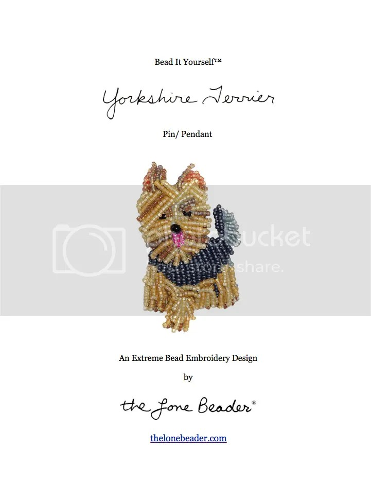 yorkie yorkshire terrier bead embroidery tutorial beading pattern for sale etsy